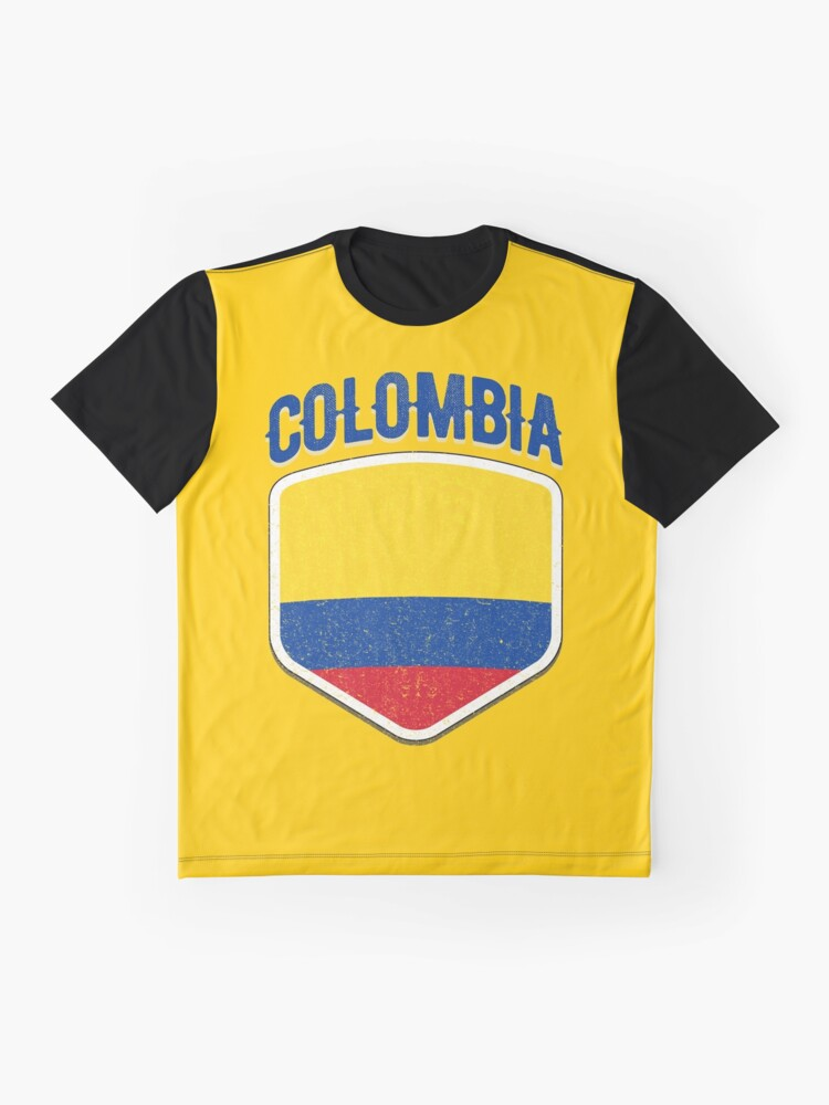 6f096a57b6a Alternate view of 2018 Colombia Flag Soccer Team World Jersey Cup T Shirt  Graphic T-
