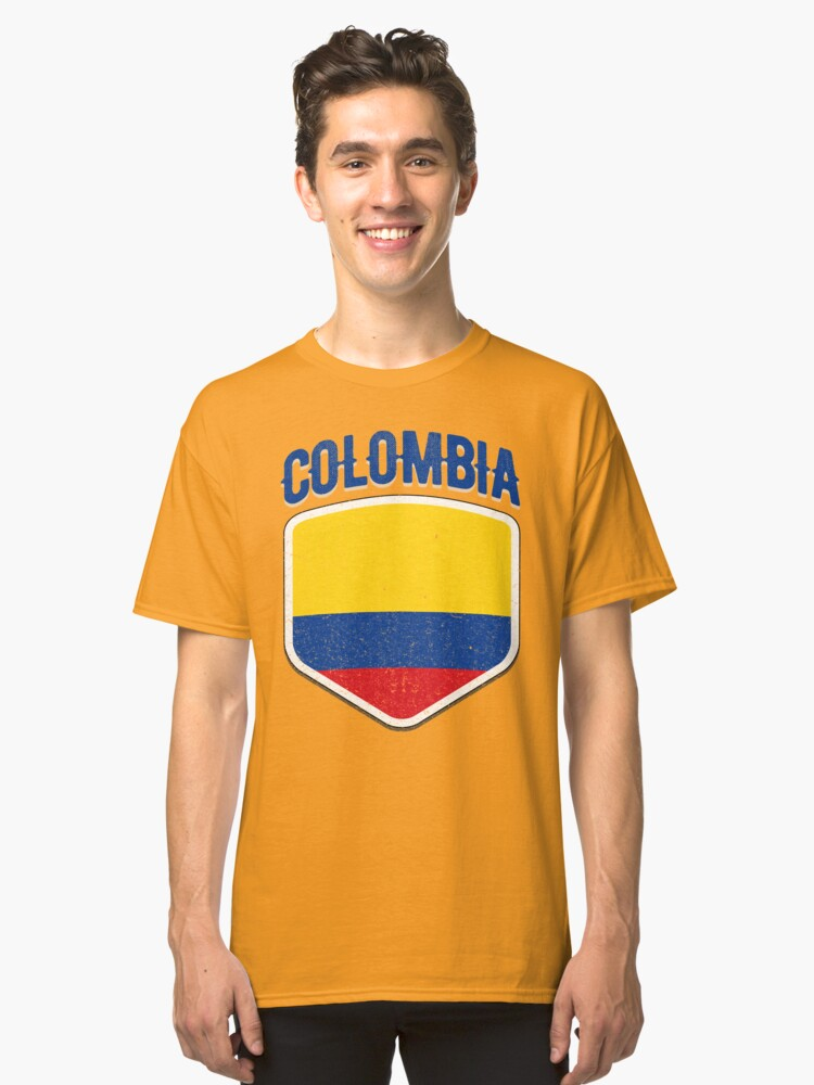 f528c1416e9 Colombia National Flag World Sport Stadium Fans T Shirt Supporter Jersey  Football Cup TShirt Classic T