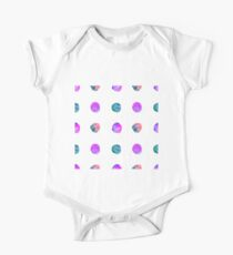 Abstract vector watercolor textured hand painted background One Piece - Short Sleeve