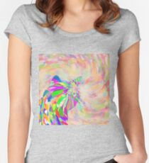 Hiding in color swirl again Fitted Scoop T-Shirt