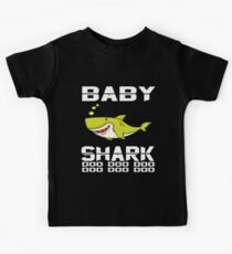 Cute Baby Shark T-Shirt Doo Doo Doo The Shark Family Apparel Kids Tee
