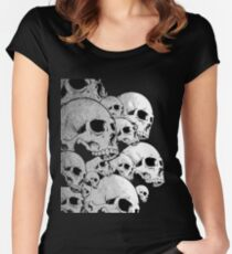 Skulls incoming - Left Women's Fitted Scoop T-Shirt