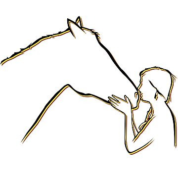 Horse And Girl Horseback Riding Gift by BUBLTEES