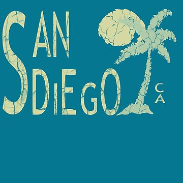 San Diego California Surf Beach T-Shirt by Picart13