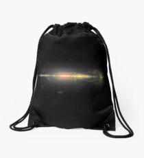 lens flare effect with light streak Drawstring Bag