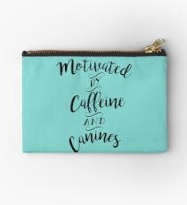 Motivated by Caffeine and Canines - For Coffee and Dog Lovers Studio Pouch