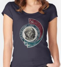 CCCP Yuri Gagarin 1961 Women's Fitted Scoop T-Shirt