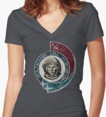 CCCP Yuri Gagarin 1961 Women's Fitted V-Neck T-Shirt