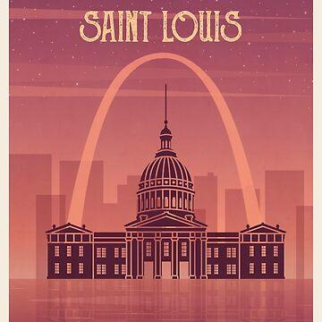 Saint Louis vintage poster travel by paulrommer