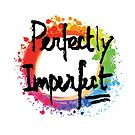 Perfectly imperfect lettering on colorful backgound by hebstreit