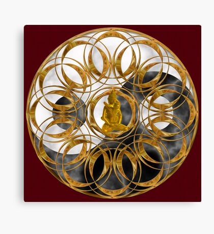 Tantric Balance Mandala Canvas Print