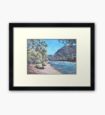 Stop by the river Framed Print