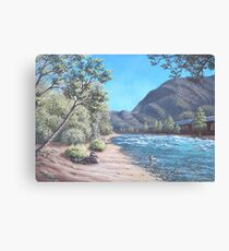 Stop by the river Canvas Print