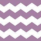 Soft Purple and White Chevron Print by itsjensworld