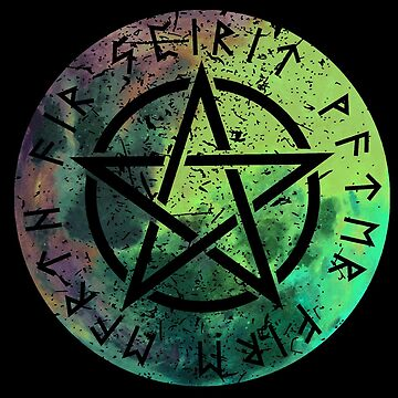Nordic Runes - Pentacle - Elements - Earth, Fire, Water, Spirit, Air by WishingInkwell