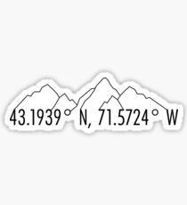 New Hamshire Coordinates Sticker