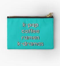K-pop, Coffee, Ramen - Korean Dramas Studio Pouch