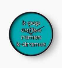 K-pop, Coffee, Ramen - Korean Dramas Clock