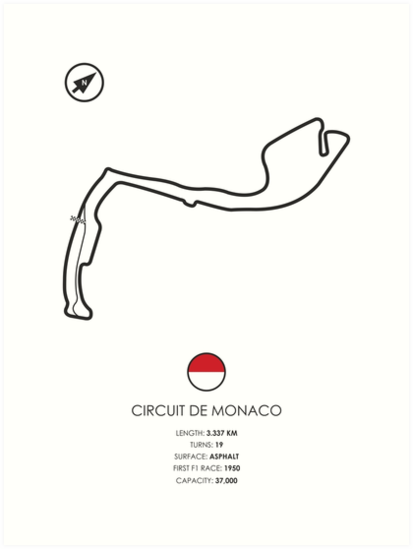 u0026quot circuit de monaco u0026quot  art prints by tm3a