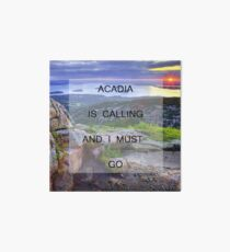 Acadia Is Calling Art Board