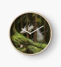Scène de forêt Horloge