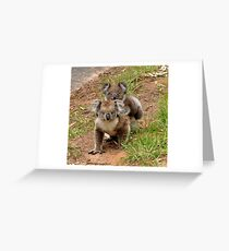 Furry Mother & Child Portrait Greeting Card