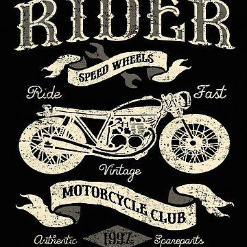 Vintage Cafe Racer Ride Fast by GarnetLeslie