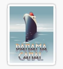 Panama Canal Cruise liner travel poster Sticker
