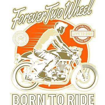 Vintage Cafe Racer Born to Ride by GarnetLeslie