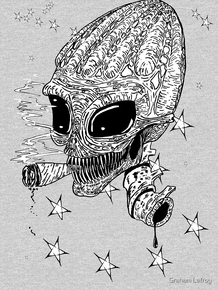 Smoking alien by Gorgalac