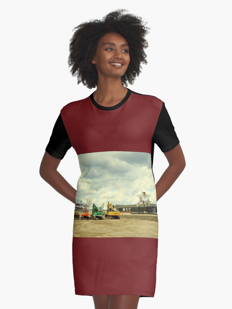 Weekend - time to line up Graphic T-Shirt Dress Front