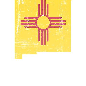 New Mexico Shirt - Zia symbol distressed - New Mexico Map #NewMexico by vasebrothers