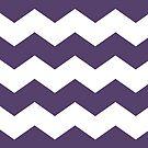 Purple and White Chevron by itsjensworld