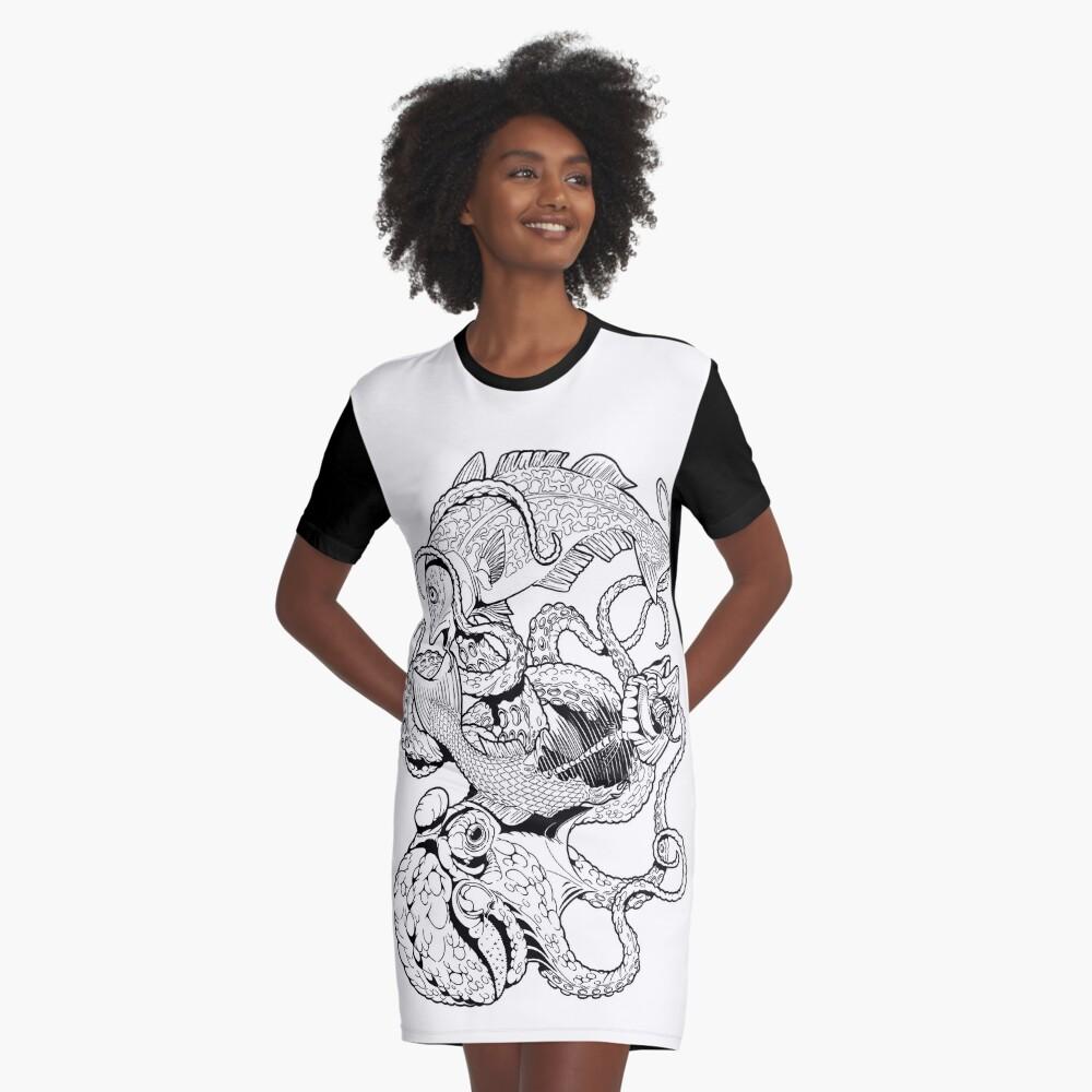 Pisces (black) T-Shirt Kleid