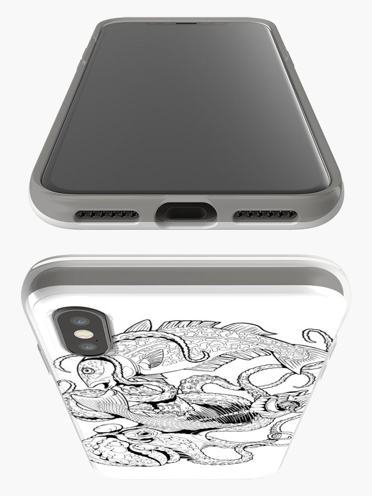 Alternative Ansicht von Pisces (black) iPhone-Hülle & Cover