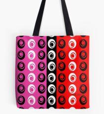 Red Pink Black Dot Fun Tote Bag