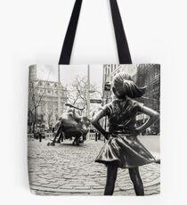 Fearless Girl & Bull NYC Tote Bag