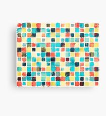 Geometric Abstract Watercolor Canvas Print