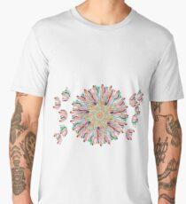 70 Organic Circle Seeds Off Like Dandal Lion at Green Bee Mee Men's Premium T-Shirt