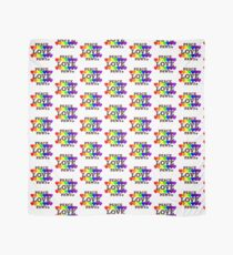 Peace, Love & Paws Rainbow Hearts Dog Slogan Gifts for Dog Lovers Scarf