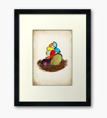 My Colorful Bird Babies Framed Print
