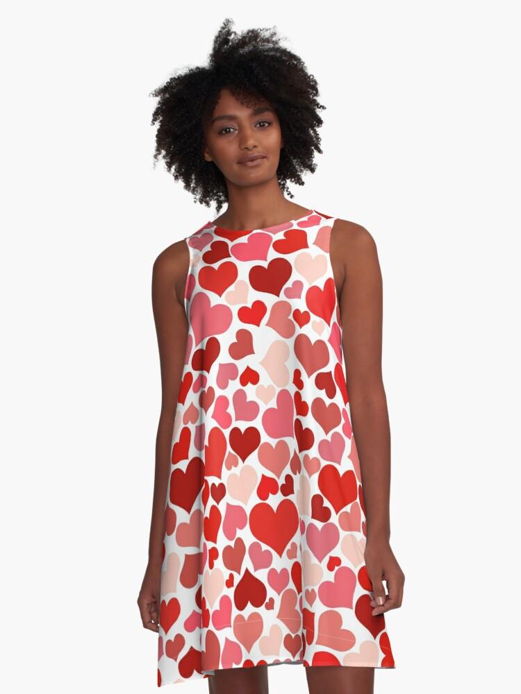 Pretty Hearts A-Line Dress Front