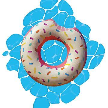 Design of a bitten donut by BuShirts