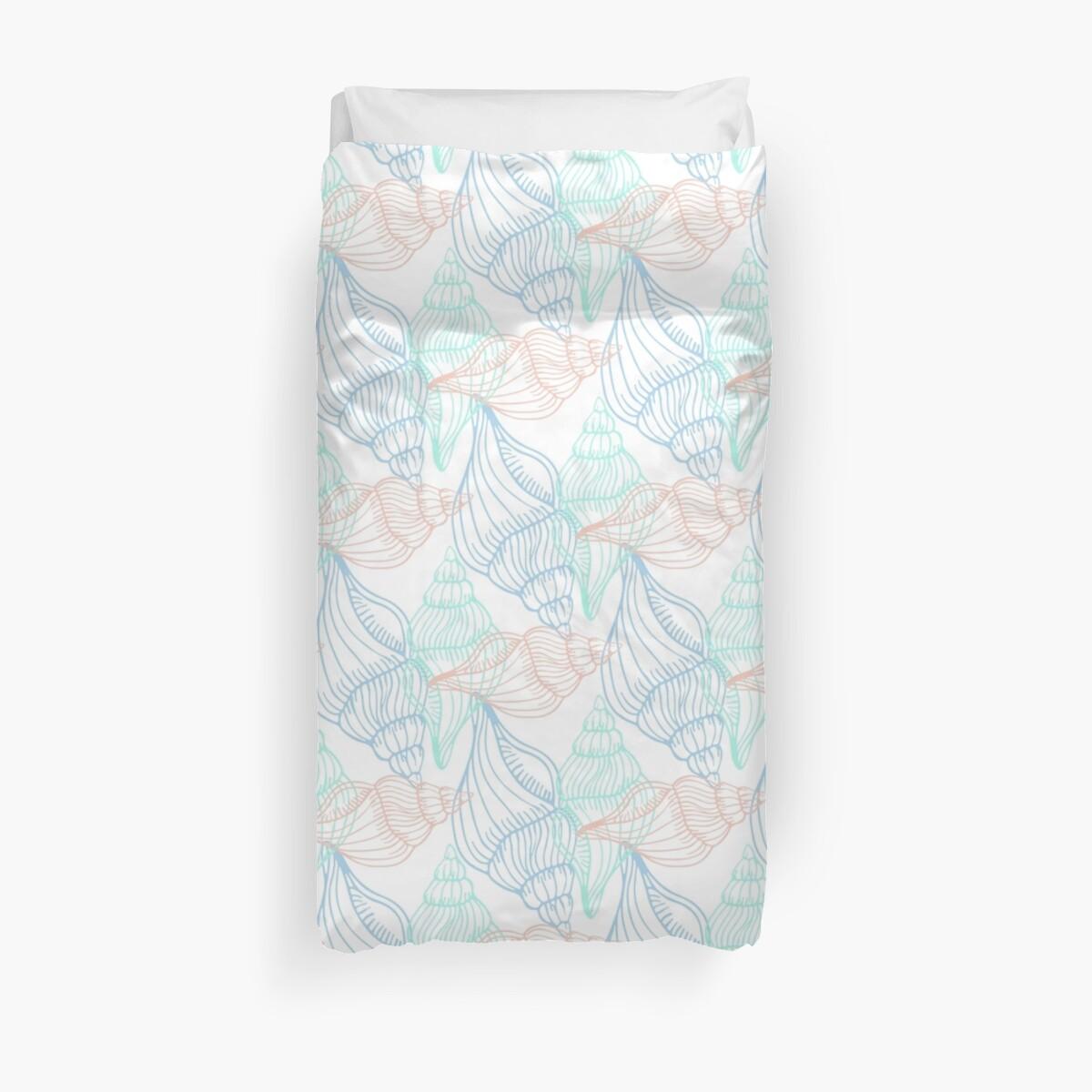 Vintage Seashells Duvet Cover by webeller