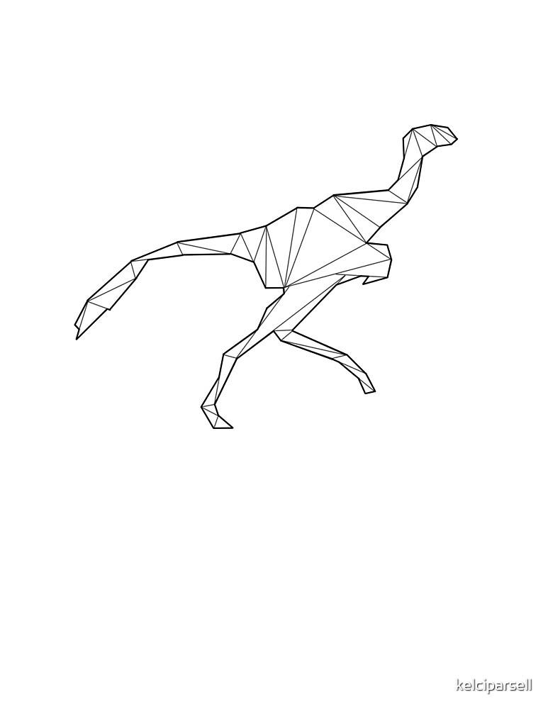 Geometric Deinonychus Dinosaur by kelciparsell