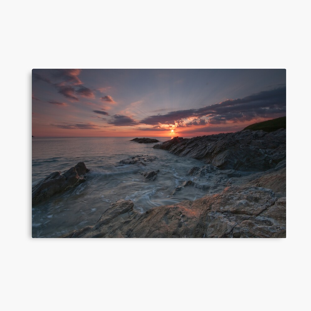 Fistral Sunset - Newquay - North Cornwall Series Canvas Print