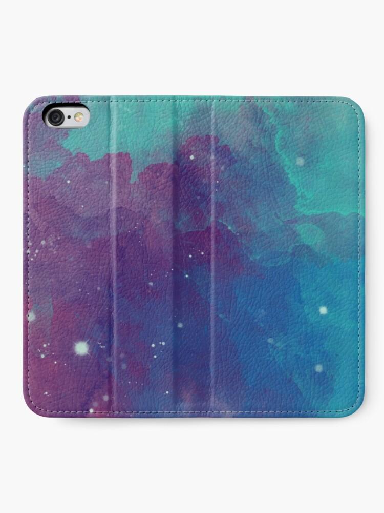 Alternate view of Night sky [watercolor] iPhone Wallet