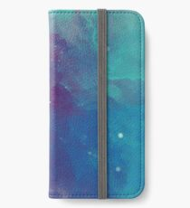 Nachthimmel [Aquarell] iPhone Flip-Case/Hülle/Klebefolie