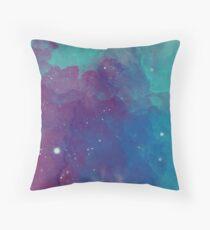 Night sky [watercolor] Throw Pillow