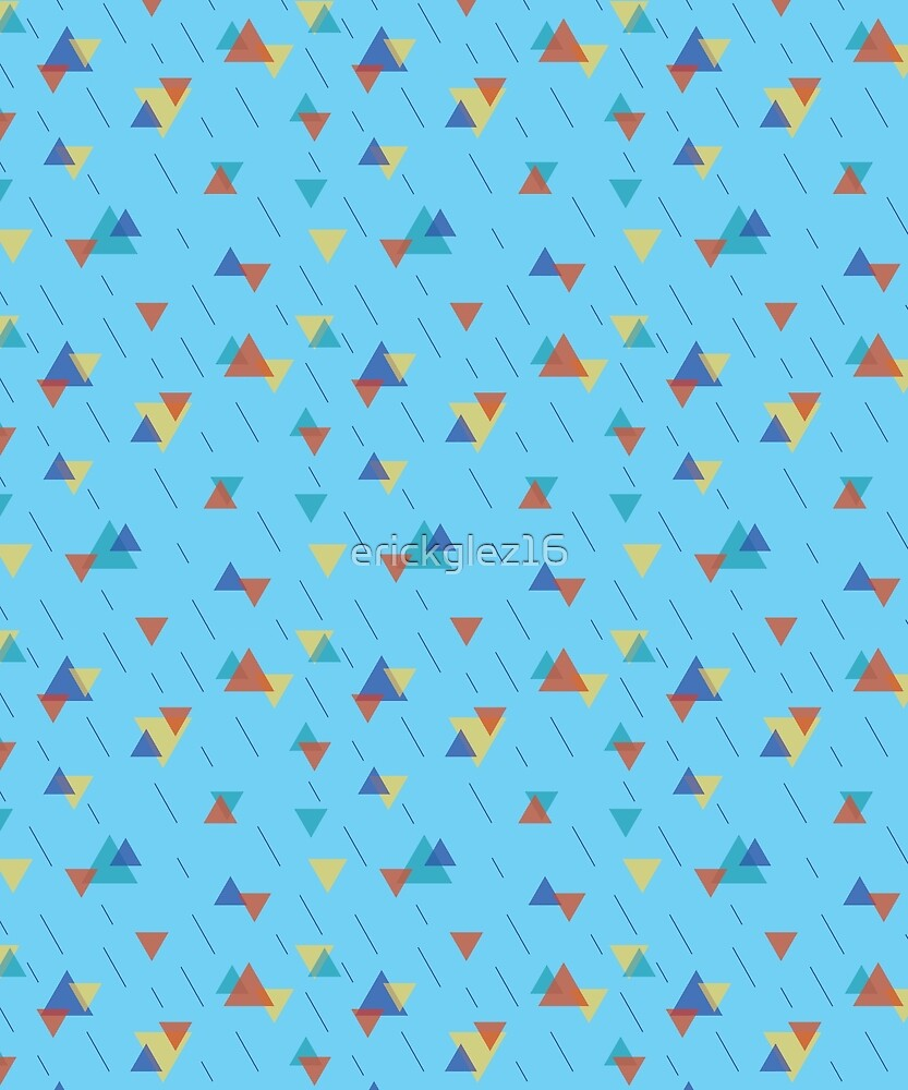 Colorful triangles pattern by erickglez16